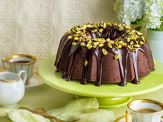 "This wonderfully rich bundt cake is brilliant served with a drizzling of delicous Lindt dark chocolate glaze and sprinkling of crunchy pistachio nuts, creating a weekend treat to indulge your sweet tooth. Recipe brought to you by [Lindt.](http://www.lindt.com.au/shop/dessert-lindt-cooking-chocolate|target=""_blank"")"