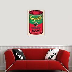 WARHOL - Campbell Soup can 1965 60x90 cm #artprints #interior #design #art #prints #Warhol  Scopri Descrizione e Prezzo http://www.artopweb.com/autori/andy-warhol/EC21548