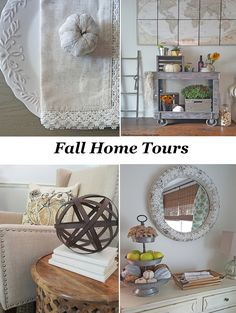 Fall Home Tours - lots of great fall decorating ideas!!