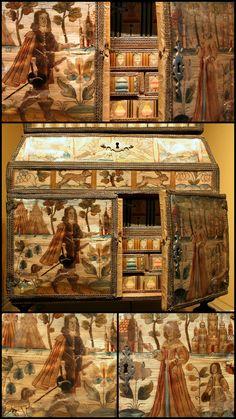 17C Embroidered casket Victoria and Albert Museum - British Galleries