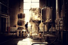 Morning in the brewery…