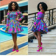 Ankara Short Dress Styles are now in Vogue for African Women - WearitAfrica African Dresses For Women, African Print Dresses, African Print Fashion, Africa Fashion, African Attire, African Wear, African Fashion Dresses, African Women, Ghanaian Fashion