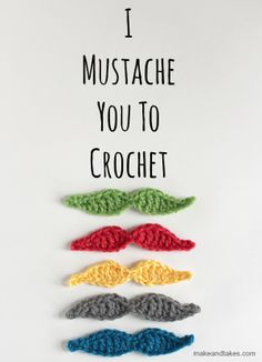 Crochet Mustache - free crochet pattern