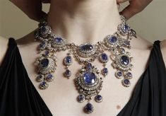 Massive sapphire and diamond necklace that belonged to Princess Eugenie of Greece