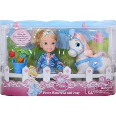 Amazon.com: Disney Princess 6 inch Toddler Doll and Pony - Cinderella: Toys & Games