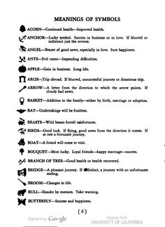 A list of the meanings of symbols to be found in tea leaves. Your Future in the Tea Cup, published by Lipton's Tea. Turkish Coffee Reading, Coffee Cup Reading, Tea Reading, Dream Symbols, Lucky Symbols, Symbols And Meanings, Tarot Card Meanings, Reading Tea Leaves, Tea Leaf Reading Symbols