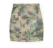 Mini Skirt Oak Tree Leaves And Acorns, Autumn Vintage Dictionary Art Moro