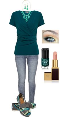 """""""Casual Teal"""" by in2song on Polyvore"""