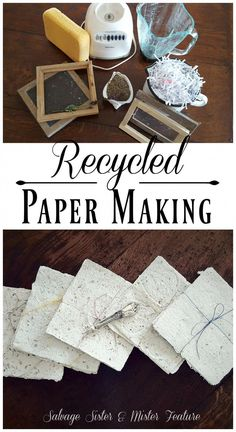 Recycled paper making. Taking shredded paper and turning it into new paper to use. This tutorial will show you how to do this craft project but also the story of one persons creative process through grief. Handling the loss of a daughter through cancer Craft Projects, Crafts For Kids, Recycling Projects, Craft Ideas, Diy Ideas, Diy Projects Recycled, Diy Creative Ideas, Art Projects For Teens, Papier Diy