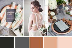 This Copper, Grey and Black Colour Palette is a classic and elegant look infused with modern on-trend elements.