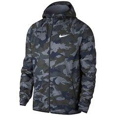 Nike Men's Woven Camo-print Training Jacket In Dark Gry Camisa Nike, Nike Clothes Mens, Men Clothes, Moda Nike, Nike Wear, Mens Sweatshirts, Hoodies, Man Weave, Camouflage Jacket