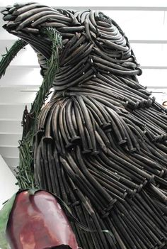 "Will Ryman's ""Bird""- made from 1,500 specially fabricated nails- and is 12 feet by 16 feet!!"