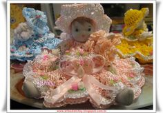 ARTES DA MITSY: Bonecas de Crochê