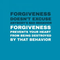 Don't clog your arteries with toxic memories. Heal your heart. Practice forgiveness.
