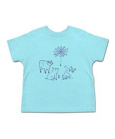 Loving this Aqua Around The Web Tee - Toddler & Kids on #zulily! #zulilyfinds