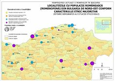 The current spread of Romanians in Bulgaria. Localities with Romanian (Romanian-speaking) population in North-West Bulgaria according to the majority ethnic character. North West, Ethnic, Map, World, Character, Bulgaria, Location Map, Maps, The World