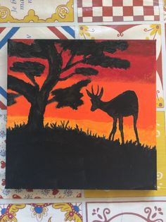 Springbok zonsondergang Afrika