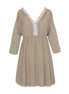 Tara Dress- Khaki   Modern, Bohemian, Gypset, Glam, Resortwear, Luxurious, Travel   rhoderesort.com