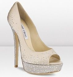 Jimmy Choo pumps Sugar with Swarovski crystals. If I wore heels this would be the pair I would get!!!