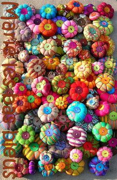 Textile Jewelry, Fabric Jewelry, Beaded Jewelry, Jewellery, Fabric Beads, Fabric Art, Fabric Scraps, Fabric Flower Brooch, Fabric Flowers