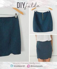 DIY Sewing   Falda corta con detalle en el bajo   Mini skirt
