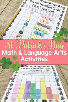 St. Patrick's Day Cereal Marshmallow Activities (Lucky Charms!) will allow your students to have fun with name brand cereal marshmallows while still engaging them in learning! This product includes 4 math worksheets and 4 writing worksheets, all using lucky charms. This provides enough activities for the whole week or for your entire St. Patrick's Day party!