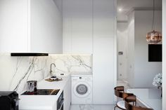 50 Lovely L-Shaped Kitchen Designs & Tips You Can Use From Them Modern L Shaped Kitchens, L Shaped Kitchen Designs, L Shape Kitchen Layout, Kitchen Colors, Small Kitchen Storage, Functional Kitchen, Futuristisches Design, Design Ideas, Industrial Style Kitchen