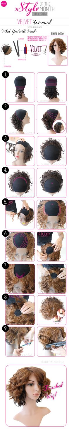How to create a chic curly Bob style using Outre's three different styles by Velvet