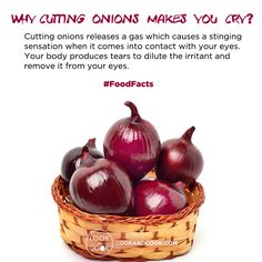 Ever wondered why #Cutting #Onions makes you cry? #FoodFacts