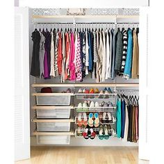 Larry's Reach-In Closet Remake available at The Container Store - Birch & White elfa décor Reach-In Clothes Closet