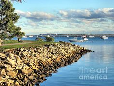 """#PlymouthHarbor #Coastline"" by Janice Drew (@janicedrew on Pinterest) #CoastalArt"