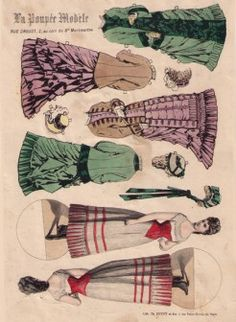Antique French paper dolls.