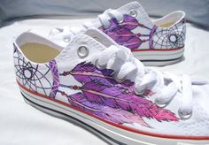 Dreamcatcher scarpe dipinta a mano di EarthtoMarsDesigns su Etsy