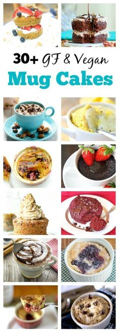Do you love mug cakes? Well here is a round-up of over 30 easy-to-make and healthy Mug Cake Recipes that are also gluten-free and vegan friendly!