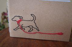 encadernação artesanal, encadernação manual,cachorro, dog, bordado, embroeidery, artesanato, caderninho, moleskine, caderneta, bloco de notas, https://www.facebook.com/noarteloja/