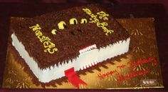The Monster Book of Monsters!! Perfect for any Harry Potter fan!!! Iced in our signature buttercream, this 1/4 sheet cake is decorated to ...