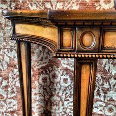 detail console walnut by theodore alexander furniture home decor tanasbourne