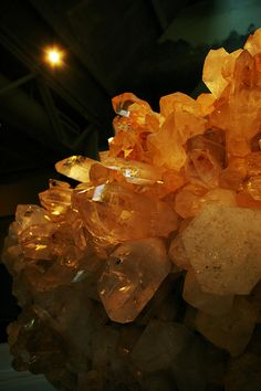 """Quartz 6819"" by chipdatajeffb. Closeup of Arkansas quartz at the Mid-America Science Museum near Hot  Springs By chipdatajeffb via flickr"