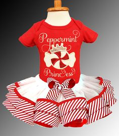 Peppermint Princess Holiday Ribbon Tutu by BibidiBobidiBootique
