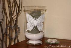 {Papierverliebt} Windlicht mit embosstem Schmetterling, Swallowtail, Stampin' Up!