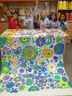 Collaborative Circle Art | Making Our Mark - and working together!