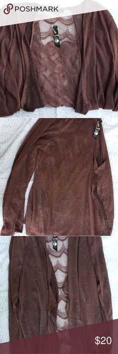Maite Perroni Plus Size Plus size cardigan with lace back super cute maite perroni Sweaters Cardigans