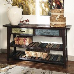 Special Offers - Signature Design by Ashley Mestler Rustic Brown Sofa Table - In stock & Free Shipping. You can save more money! Check It (April 27 2016 at 01:56PM) >> http://kitchenislandusa.net/signature-design-by-ashley-mestler-rustic-brown-sofa-table/