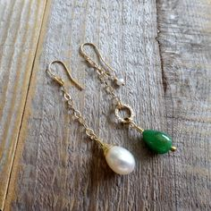 EAD2015 Earrings 108 and 109  18k gold 14k gold Pearl by Kosmimata