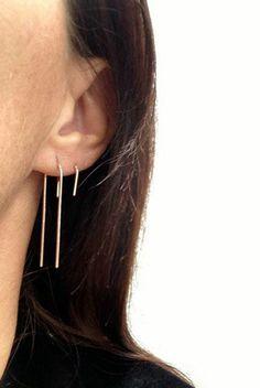 Rose Gold Arc Earrings