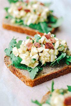 egg white & avocado salad.