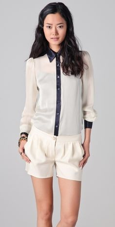 Temperley London Valentina Shirt thestylecure.com