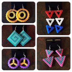 Earrings perler beads by ashleyw2014