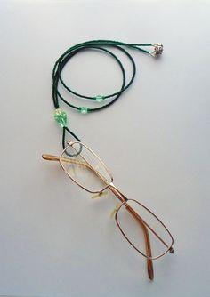 Green Magnetic ID Badge Eyeglass Lanyard Necklace by TinksTreasure, $24.00