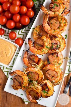 Spicy Shrimp and Sausage Skewers   Iowa Girl Eats
